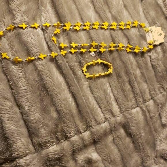 Hannah Collection Jewelry - Brand new Hannah Collection yellow cross set